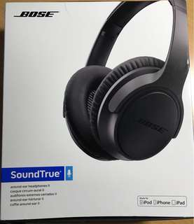 Bose SoundTrue around-ear headphones II - Apple devices, Charcoal 耳機 🎧