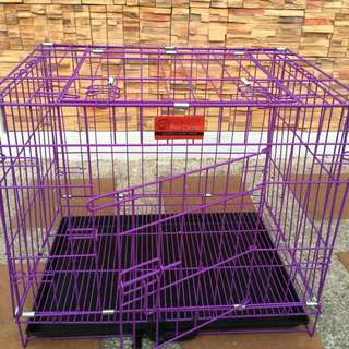 Dog cage (Violet) with Free Organic Shampoo and Dog food!!