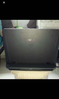 Asus rog g75v good condition but I put carbon sticker  that's y very cheap fast deal 450 w free bag what u see is what u get