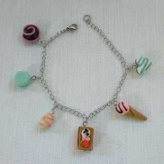 Handmade Clay Food Bracelet