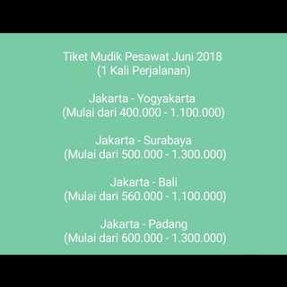 Tiket Mudik Pesawat Online
