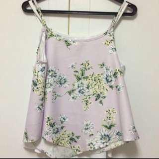 BNIB Lilac Floral Spag Top