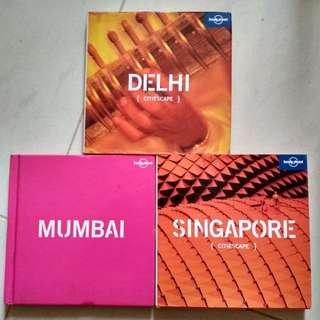 Lonely planet Cityscape series books ( Mumbai, Delhi and Singapore) #bajet20