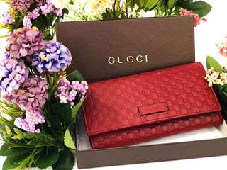 Gucci Red GG Guccissima Purse