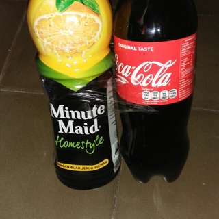 Coca cola dan minuman jeruk