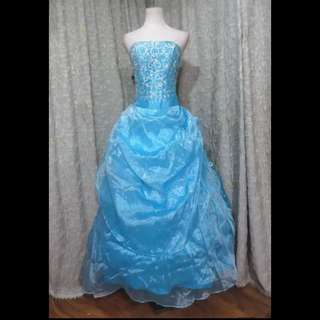 Clearance!!! Light blue prom gown dinner dress