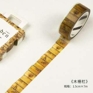 Washi Tape (Wooden Fence) / Sample 50cm (Ref No.: 170)