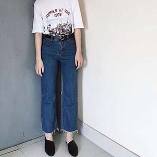Benefit Boyfriend jeans dark blue crop