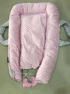Baby Nest in Pink + Chevron (Reversable)