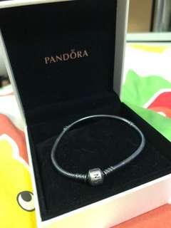 Pandora black silver 20cm bracelet