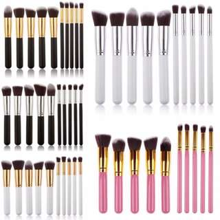 Kabuki 10 Pcs Professional Soft Make Up Brush Set