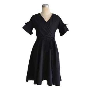 PO RUFFLE WRAP DRESS