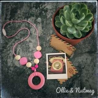 Customised silicone teething necklace