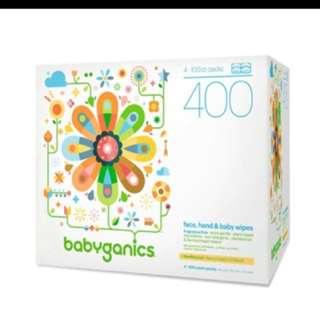 Brand new Babyganics baby body face wipes