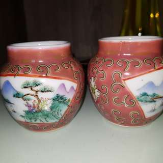 (RESERVED)HK OLD HWAMEI BIRD CUPS