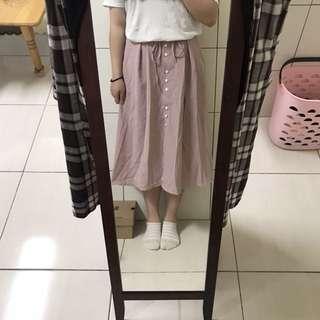 粉紅少女格子裙❤️