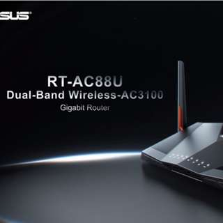 ASUS RT-AC88U AC3100 Wireless Router with 8 Gigabit Lan