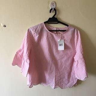 P&CO Pink Pin Stripe Top