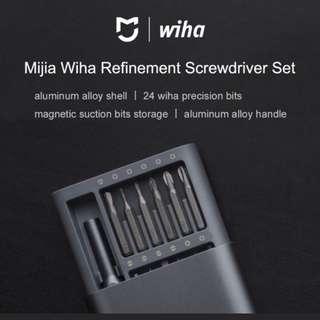 2017 reddot award winner Mijia Wiha Screwdriver Set 24 Precision Magnetic Heads with Free Storage Box for Repairing Tools Kit