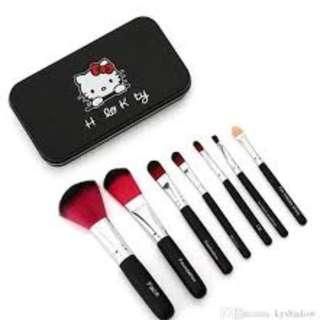 HK 7 Pcs Mini Makeup Brush Set (BLACK)