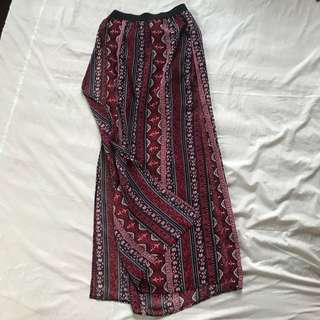 H&M Boho Maxi Skirt with Slits