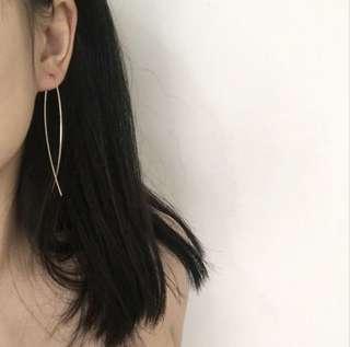 Metal Infinity shaped Earrings
