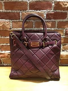 Michael Kors 2 Way Quilted Hamilton Tote