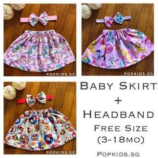 🎀 Cute Baby Skirt + Headband 🎀