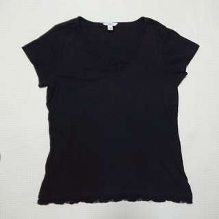 Bossini XL Black Top with Lace