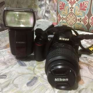 Nikon D3100 with speedlight