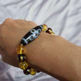 Authentic Tibetan Dzi Bracelet