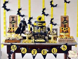Batman Birthday Party Set up