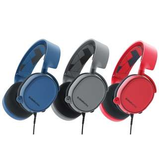 Steelseries Arctis 3 Limited Edition Gaming Headset (Grey/Blue/Red)