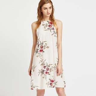 Floral Print Boho Halter Long Dress ~FASH~