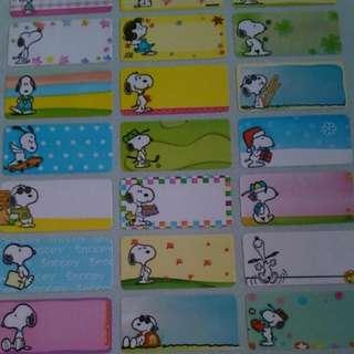 Snoopy Name Sticker