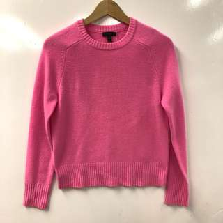 粉紅色冷衫 j.crew pink sweater size S