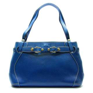 Kate Spade Blue Leather Satchel Handbag