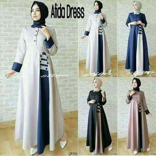 Afida Dress - Pakaian Wanita - Gamis Syari