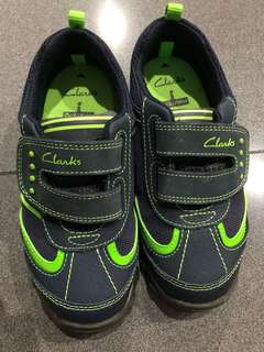 Clarks Boy Shoes, Navy, Size 29