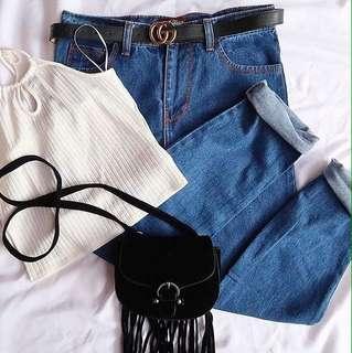 Plain Boyfriend Jeans
