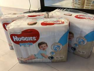 Huggies Platinum Pull Up pants XL (3 packs)