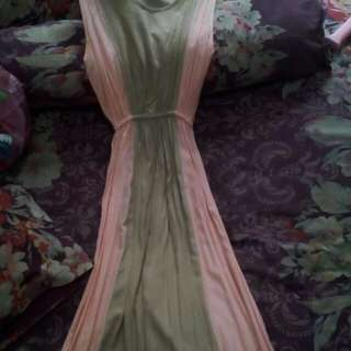 Dress warna kombinasi