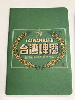台灣啤酒 小懷舊筆記本 全白色 (台灣入)包郵