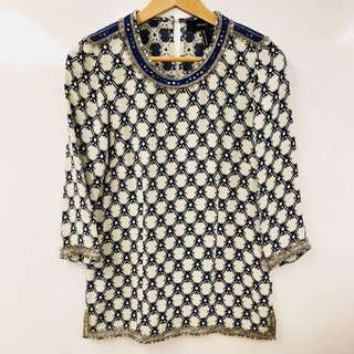 Isabel marant pattern with sequins top size 38
