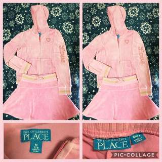 Place - Pink Terno Hooded Jacket & Skirt