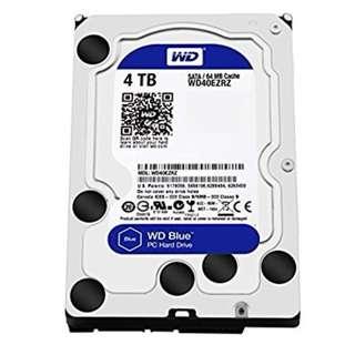 WD Blue 4TB SATA 6 Gb/s  64MB Cache 3.5 Inch Desktop Hard Drive
