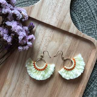 Touch of Sunshine Fan Earrings