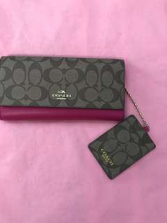 Coach Long Wallet with card slot