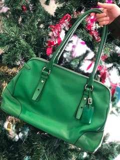 Tumi Green Tote Handbag