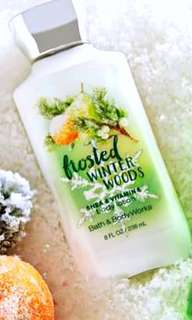 236ml Bath & Body Works Frosted Winter Woods Body Lotion